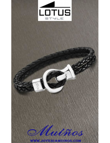 pulseras cuero lotus style para hombre joyería muiños ls1841