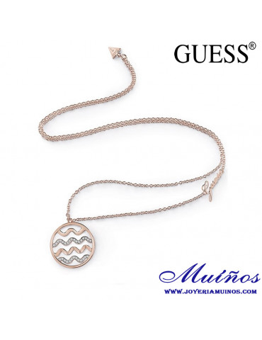 colgante guess dorado para mujer waves of passion