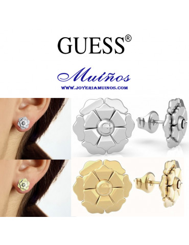 pendientes flor guess mujer