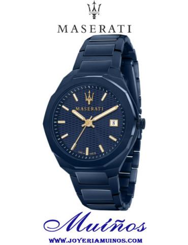 reloj maserati blue edition