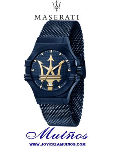 reloj maserati potenza azul