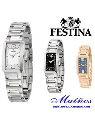 Relojes rectangulares mujer festina outlet