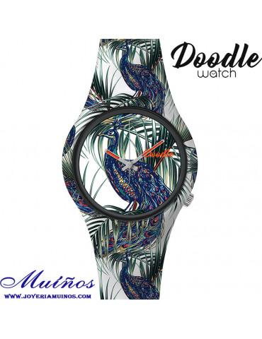 Reloj doodle do09006 pavo real