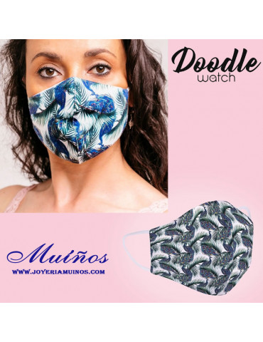 mascarilla lavable pavos reales