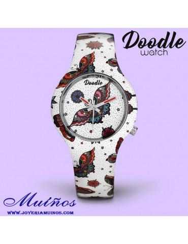 reloj doodle tatuaje mariposa do35010