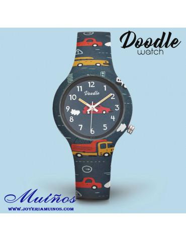 Reloj niño coches doodle do32001