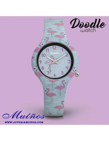 reloj niña flamencos doodle do32008