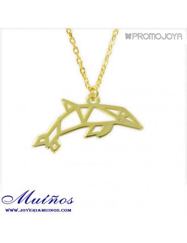 colgante delfín origami plata promojoya 9110336