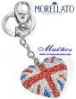 llavero corazón bandera inglesa