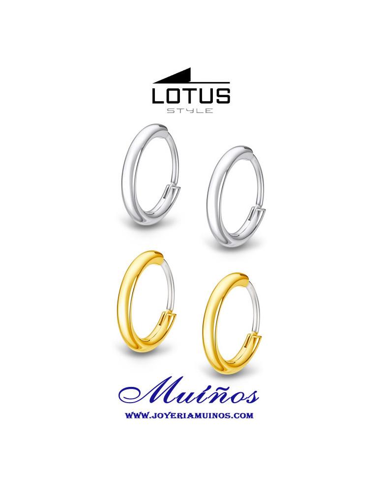 pendientes lotus style aros hombre ls2174