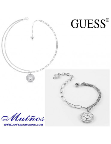 conjunto Collar pulsera from guess with love