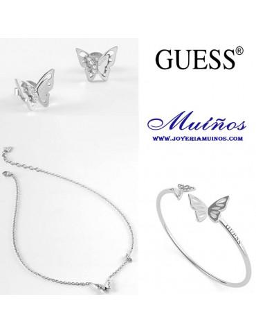 conjunto joyas mariposas Guess