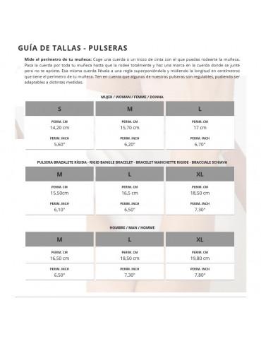 GUIA TALLAS PULSERAS UNO DE 50