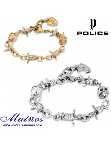 Pulseras calaveras police