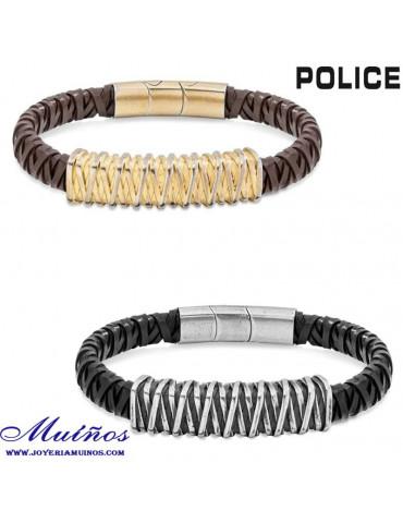 Pulseras Police hombre cuero