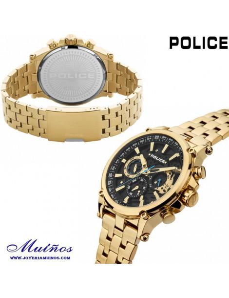 Reloj police hombre grande dorado
