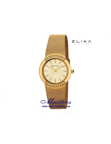 Reloj Elixa Beauty con correa milanesa y circonitas