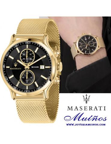 Reloj maserati epoca dorado hombre