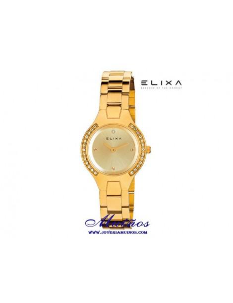 Reloj Elixa Beauty mujer colores con circonitas
