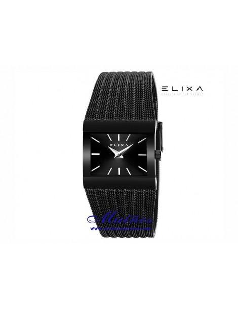 Reloj Elixa Beauty con correa milanesa y caja rectangular