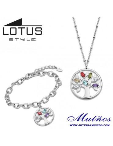 conjunto pulsera y collar lotus ls2192