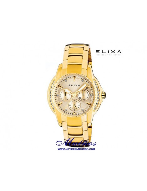 Reloj Elixa Enjoy multifuncion acero diferentes colores