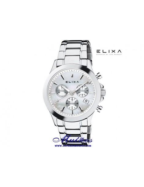 Reloj Elixa Enjoy mujer crono acero