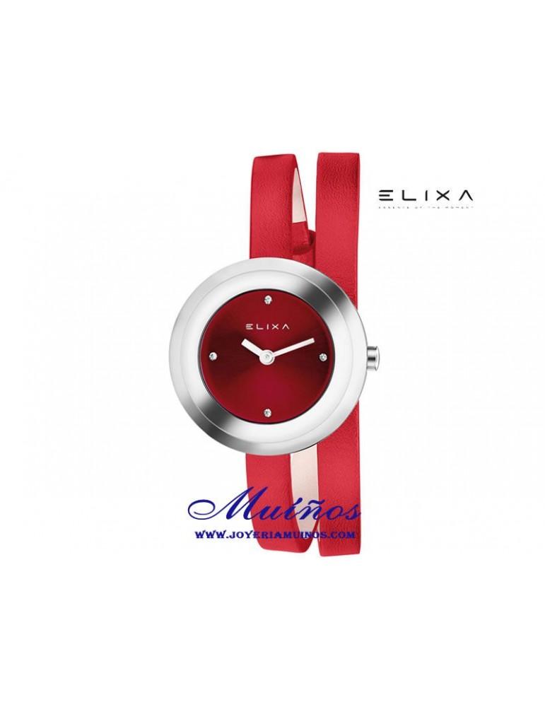 Reloj Elixa Finesse mujer con correa piel de dos vueltas de muñeca varios colores