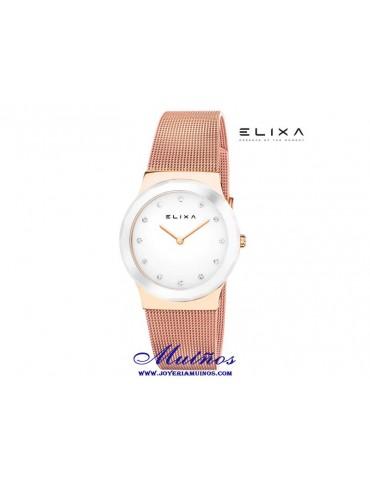 Relojes Elixa Cerámica con armix acero milanesa