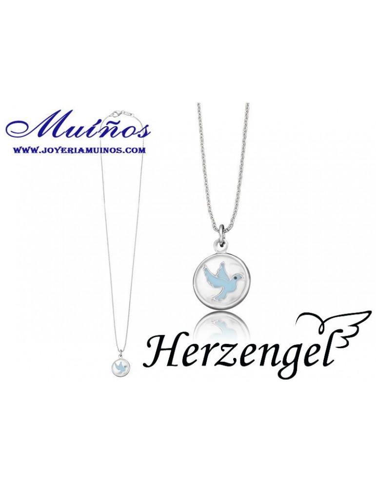 Colgante plata niña Herzengel paloma paz