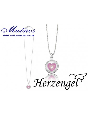 Colgante plata niña Herzengel corazón