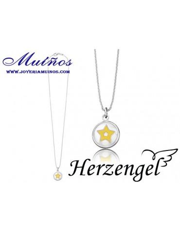 Colgante plata niña Herzengel estrella