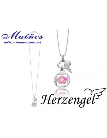 Colgante plata niña Herzengel flor