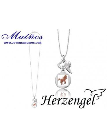 Colgante plata niña Herzengel caballo
