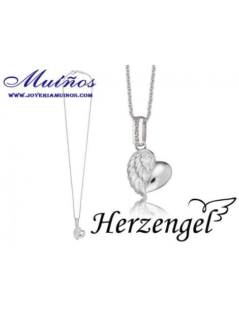 Colgante plata niña Herzengel corazón de ángel