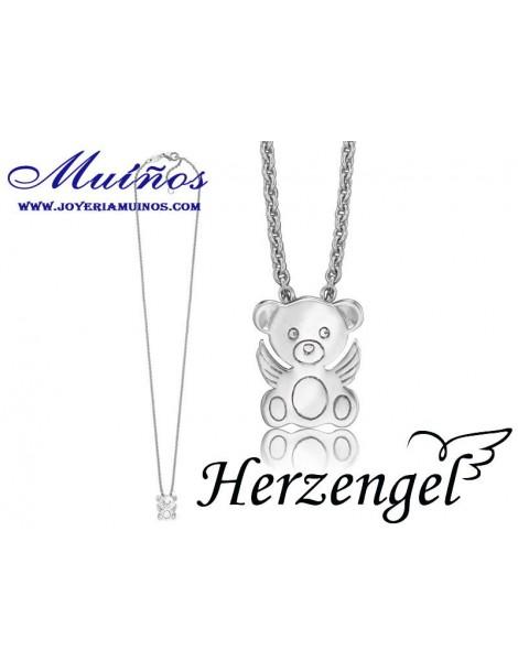 Colgante plata niña Herzengel osito con alas