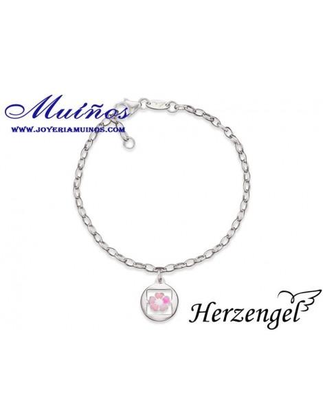 Pulsera plata niña Herzengel