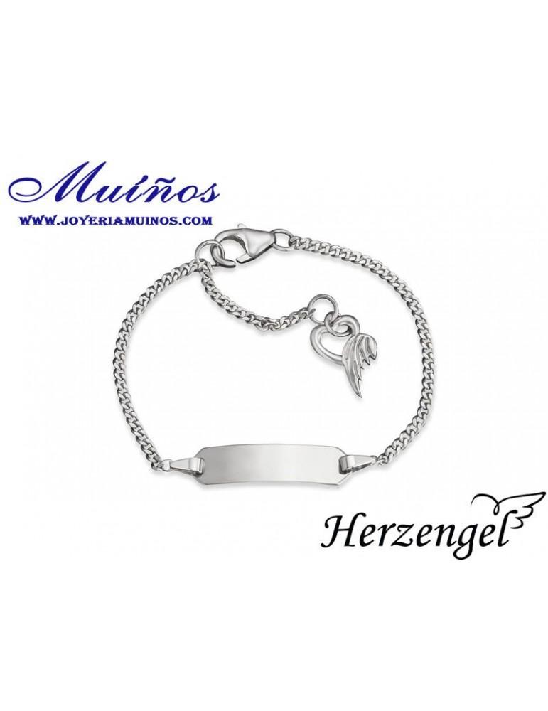 Pulsera esclava plata niña Herzengel corazón de ángel