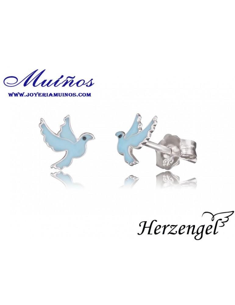 Pendientes plata niña Herzengel palomas