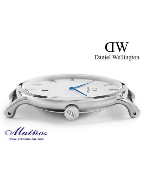Reloj caja plateada Dapper St Mawes Daniel Wellington 38mm