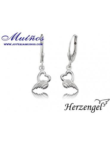 Pendientes plata niña Herzengel alas de ángel