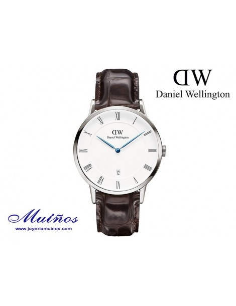 Reloj caja plateada Dapper York Daniel Wellington 38mm