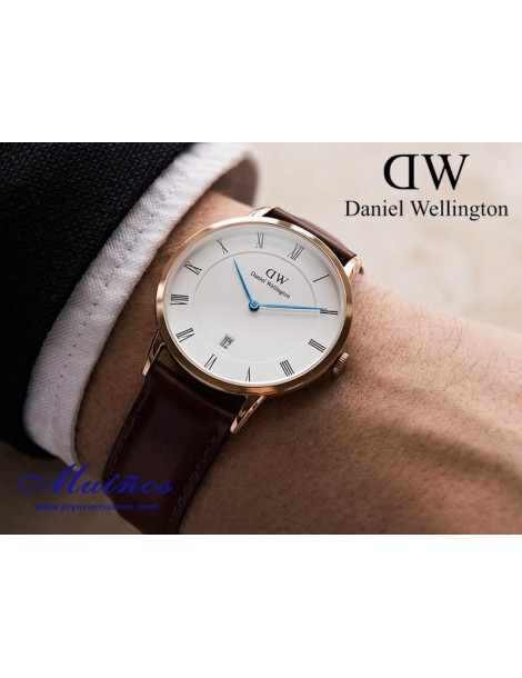 Reloj caja oro rosa 2 Dapper Bristol Daniel Wellington 38mm