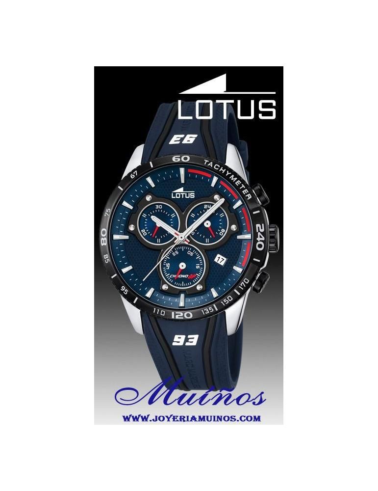 Lotus Correa Caucho18257 Hombre Crono Reloj Márquez Marc jqSUGMLpzV