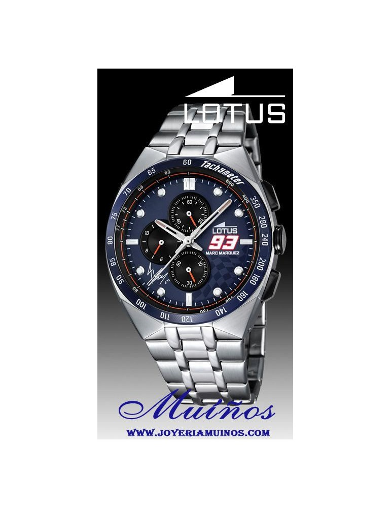 58dae6d36c4d Reloj Lotus Marc Márquez hombre crono correa acero