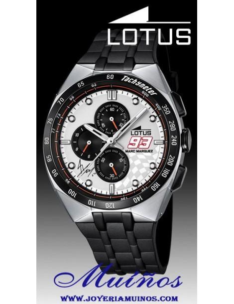 Reloj Lotus Marc Márquez hombre crono correa acero1823