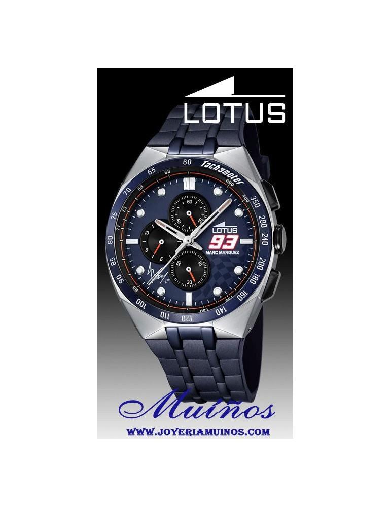 3464910350c9 Reloj Lotus Marc Márquez hombre crono correa acero1823
