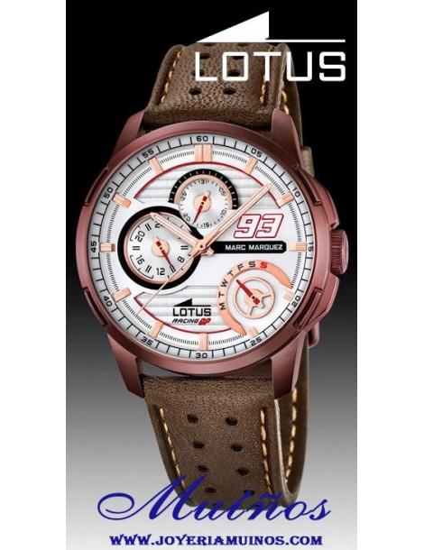 Reloj Lotus Marc Márquez multifunción correa piel 1824