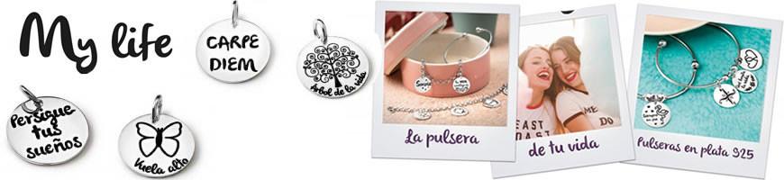 Pulseras Plata personalizables PROMOJOYA My life
