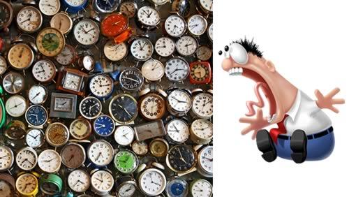 loco de relojes